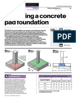 Design of Concrete Pad Fondation