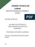 Tese de Mestrado Caldeirinha final - impacto das Características dos Portos no Desempenho