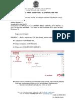 tutorial assinatara OAB