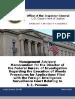 Horowitz report of FISA