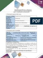 Guía de actividades y rúbrica de evaluación Paso 2. Analizando la información