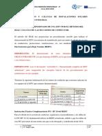 Ejemplo detallado de calculo de secciones de conductor en dimensionado ISFV