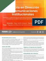 Maestría en Dirección de Comunicaciones Institucionales 19-09-19
