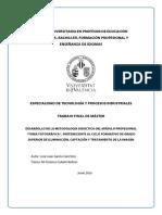 """Desarrollo metodología didáctica del módulo """"Toma Fotográfica"""""""