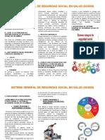 FOLLETO SISTEMA GENERAL DE SEGURIDAD SOCIAL EN COLOMBIA