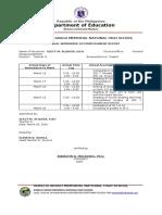 doc Glesh-Workweek-Accomplishment report  & workplan