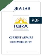 IQRA IAS Current Affairs Dec 2019