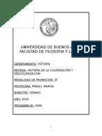 HISTORIA DE LA COLONIZACIÓN Y DESCOLONIZACIÓN (PINEAU) - Verano 2019