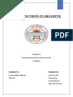 HRM FUNCTIONS IN DELOITTE