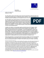 VON Europe & VON - Comments on ACMA Consultation on Emergency Call Service