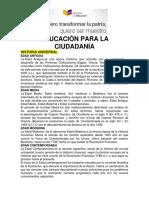 EDUCACION PARA LA CIUDADANIA TEMAS DE ESTUDIO