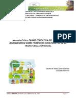 PRAXIS EDUCATIVA DEL MAGISTER ROBINSONIANO COMO PROMOTOR-CONSTRUCTOR DE LA TRANSFORMACIÓN SOCIAL