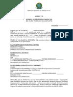 ANEXO VIII- MODELO DE PROPOSTA