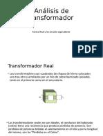 Análisis de transformador