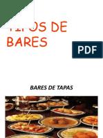 TIPOS DE BARS