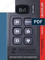 Shift Selector Operation and Code Manual (MY 09 4th Generation - 4TH GENERATION ELECTRONIC CONTROLS)