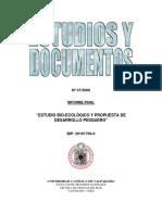 Estudio Bio-Ecológico y Propuesta de Desarrollo Pesquero