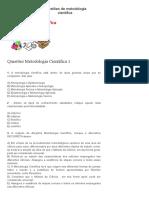 Questões de metodologia cientifica _ Escola Total concursos e empregos