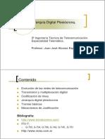 Tema 3_ Jerarquía Digital Plesiócrona, PDH. Profesor_ Juan José Alcaraz Espín