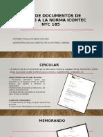 TIPOS DE DOCUMENTOS DE ACUERDO A LA NORMA.pptx