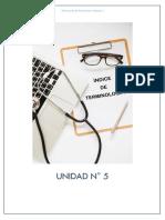 UNIDAD 5 - ÍNDICE DE TERMINOLOGÍA