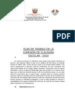 Plan de Trabajo de Comision de Clausura 2020