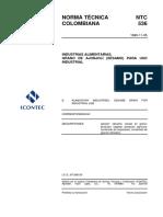 NTC 536 industrias alimentarias. grano de ajonjolí (sésamo) para uso industrial