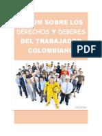 ÁLBUM SOBRE LOS DERECHOS Y DEBERES DEL TRABAJADOR COLOMBIANO