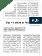 Scannone Dios y el ateismo en América Latina ACTUALIDAD PASTORAL 1975
