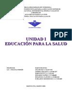 TRABAJO EDUCACION PARA LA SALUD