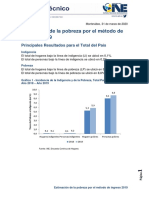 Estimación de La Pobreza Por El Método de Ingreso 2019