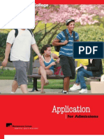 Admissions Application 2010 11