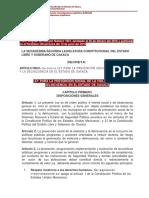 Ley para la Prevención Social de la Violencia y la Delincuencia Oaxaca
