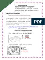 CUESTIONARIO DE INGLES  GRADO TERCERO