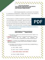 CUESTIONARIO CIENCIAS NATUARLES GRADO SEGUNDO