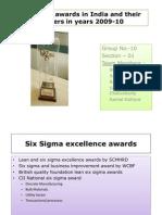 Six Sigma Awards in India