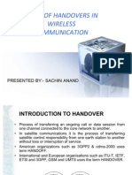 Types of Handovers In
