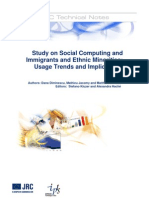 Study on Social Computing and Immigrants and Ethnic Minorities - Usage Trends and Implications