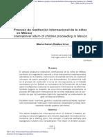 ROBLES CRUZ. PROCESO DE RESTITUCIÓN INERNACIONAL DE LA NIÑEZ EN MÉXICO. UNAM.pdf