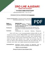 """PR UNOPAR ADM 8 SEM Confecção Produtos Alimentícios Sem Glúten, Pela Micro Empreendedora Clara - """"Pães Da Clara"""