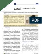 Activities Designed for Fingerprint Dusting and the Chemical Revelation of Latent Fingerprints