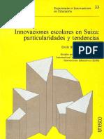 Blanc & Egger (1978) Innovación escolar en Suiza