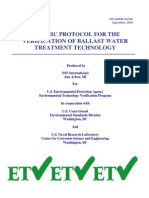 EPA 2010 Generic Protocol for the Verification of Ballast Water Treatment Technology