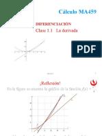 1.1 La derivada
