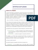 ESTÁTICA DE FLUIDOS PIEZOMETRIA