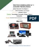 TP 1º año Tecnología Concepto Origen Tipos y Evolución