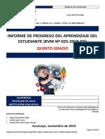 5  INFORME PROGRESO APRENDIZAJE_QUINTO GRADO