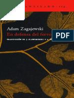 Adam Zagajewski - En defensa del fervor