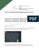 Trucchi e funzioni della tastiera GBoard (Android e iPhone)