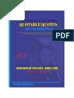 QUOTABLE QUOTES BY ABRAHAM DANIEL OBULOR